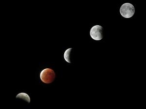 コンデジで皆既月食を撮ってみた